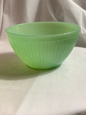 "Fire King Anchor Hocking Jadeite Jadite Jane Ray 5-3/8"" Ribbed Mixing Bowl"