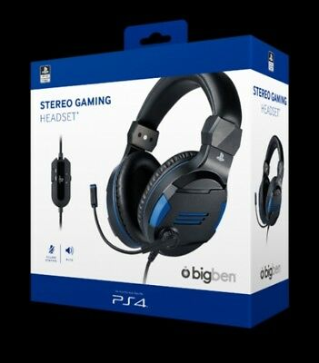 PS4 BIGBEN STEREO Gaming Headset V3 Wired NERO BLU - EUR 31 79854de2350a