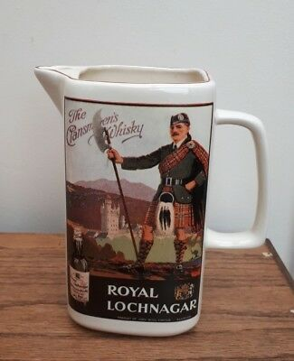 Royal Lochnagar Whisky Water Jug Scottish Whiskey Home Bar VGC