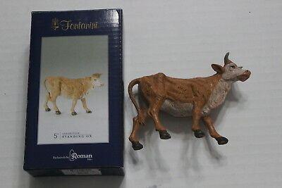 "Roman Fontanini 5"" Collection Standing Ox Figure With Box Christmas Nativity EUC"