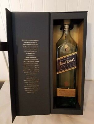 Johnnie Walker Blue Label Scotch Whiskey Bottle and Box