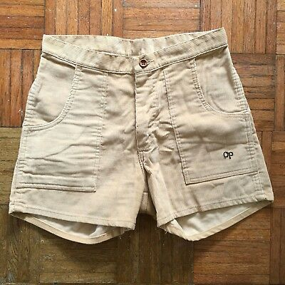 Ocean Pacific Vintage Tan Corduroy Shorts Beige Small 30 High Waist VTG 80s Surf