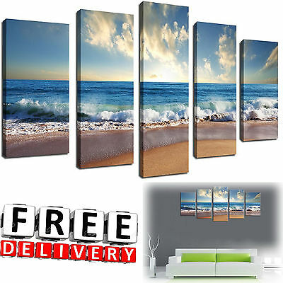 Beach Canvas Wall Art Painting Framed Print Large Hang Modern Picture Home Decor