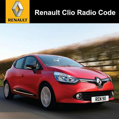 Renault Clio Radio Codes All Years & Models Covered 2005/ 2006/ 2007/ 2008   UK