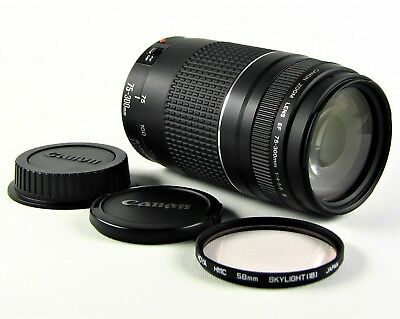 *SUPERB* CANON ZOOM LENS EF 75- 300mm f4-5.6 MKIII EOS DIGITAL DSLR COMPATIBLE