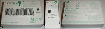 INTEGRA MILTEX 4-315 #15 Stainless Steel Surgical Blades 100/BX Sterile Kai