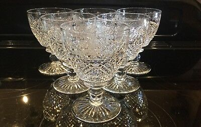 Stuart Crystal Beaconsfield (old) Rummers Water Goblets Large Wine Glasses