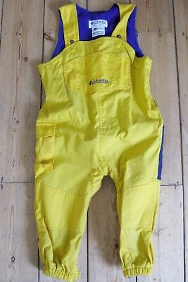 Waterproof thermal sport dungarees age 3-4 yellow/blue.Unisex.Exc cond.Ldn NW3