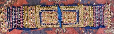 Vintage Very Finely Worked Indian Rajasthan Mirror Work Embroidery Panels