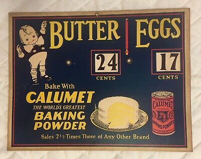 Advertising Calumet Baking Powder Butter & Eggs Spinner Wheel Sign