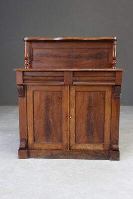 Antique Flame Mahogany Chiffonier Sideboard Cabinet
