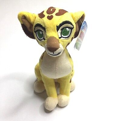 "NWT Disney Junior The Lion Guard 7"" Fuli Cheetah Plush Bean Animal Toy Gift"