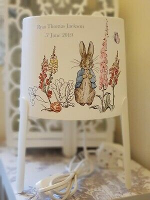 ❤ Beatrix Potter Peter Rabbit PERSONALISED Lamp ❤ Perfect Gift or Nursery ❤