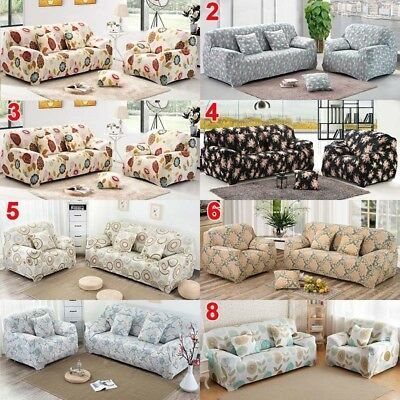 Easy Fit 1/2/3/4 Seater Sofa Slipcover Stretch Couch Cover Protector Washable