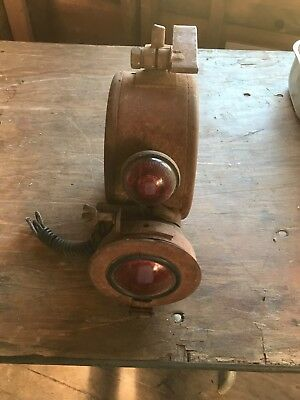 Antique, vintage railroad light or lantern  railroad Collectible. Rusty iron.