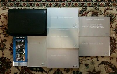 2016 Infiniti QX50 Owners Manual, Navigation Manual Complete Set With Case