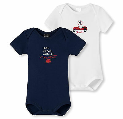 Schiesser Baby Body Proverbes Lot Double 68 74 80 86 92 Organes Manches Courtes