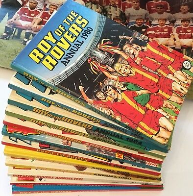 Roy of the Rovers Annual Job Lot 12 vintage annuals Unclipped 1980s & 1990s