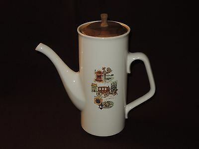 """Midcentury Atomic Modern Ever Yours """"cape Cod"""" Pattern Taylor Smith Coffee Pot"""