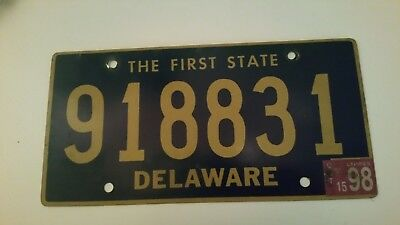 plaque d'immatriculation Delaware Us 918831 Usa license plate