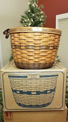 LONGABERGER J.W. Collection 1991 Edition CORN BASKET in Original Box