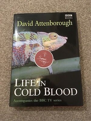 SIGNED DAVID ATTENBOROUGH Life in Cold Blood 1/1 HBK - Life On Earth / Zoo Quest
