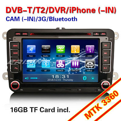 "7"" Autoradio NAVI CAM-IN DVR CD Per VW GOLF Passat Touran Polo Jetta Seat Skoda"