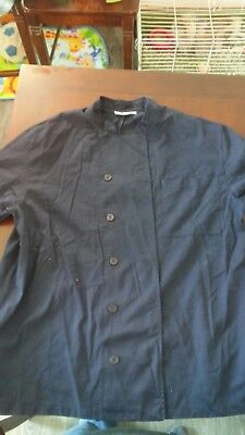 Chef Works Long-Sleeved Chef's Coat - Navy Blue, Size XL