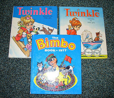 Twinkle Annuals 1978 & 1980, Bimbo Annual 1977 - Nice Condition