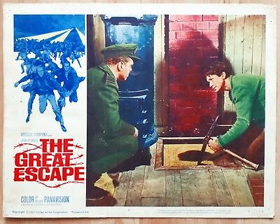 The Great Escape 1963 Large 14x11 US Film Lobby Card WW2 Movie Charles Bronson