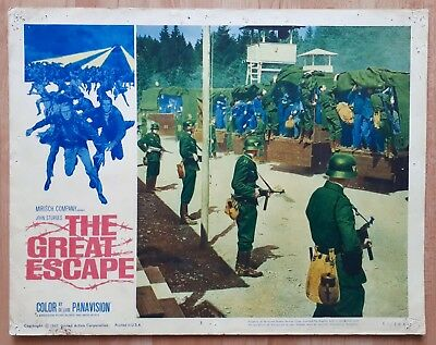 The Great Escape 1963 Large 14x11 US Film Lobby Card WW2 Movie James Coburn