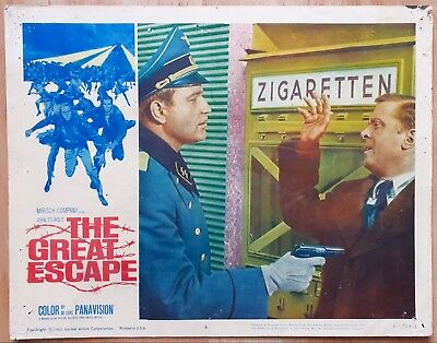 The Great Escape 1963 Large 14x11 US Film Lobby Card Movie Richard Attenborough