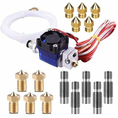 E3D V6 3D Printer Accessories Hot End Full Kit, J-head Hotend With Fan and 5 Pcs