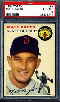 1954 Topps #88 Matt Batts PSA 6 EX-MT *Detroit Tigers*