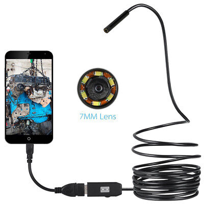 Waterproof 7Mm Endoscope Usb Inspection Camera 6 Led For Otg Smart Phone Pour