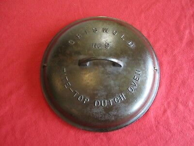 Griswold Cast Iron Tite-Top Dutch Oven Lid #9. FREE SHIP!