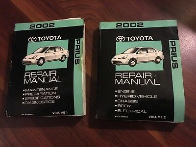 2002 Toyota Prius Volume 1 & 2 Service Repair Manual Factory OEM BOOK Free Ship
