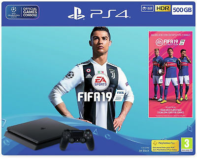 Sony Playstation PS4 500GB Console Black FIFA 19  Bundle ,NEW, SEALED