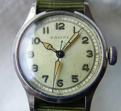 MEN'S military WWII period GALLET RACINE GOOD CONDITION collection WRISTWATCH