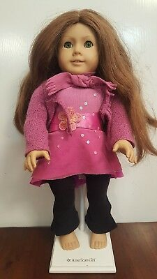 AMERICAN GIRL DOLL Pleasant Company with CLOTHES and AUTHENTIC DISPLAY STAND