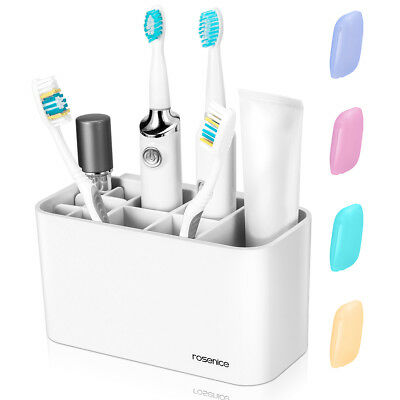 Toothbrush Holder Toothbrush Stand Organizer for Electric Toothbrush Toothpaste