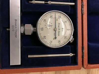 Brown And Sharpe Depth Gage In Case