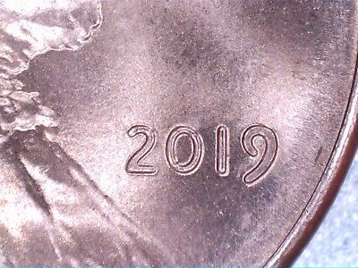2019-P Lincoln Cent With Extra Thick (9) Red!!!!!