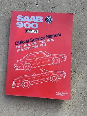 Saab Official Service Manual 900 16 Valve 1985-1993 BENTLEY BOOK