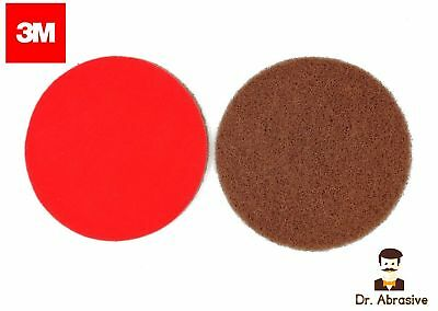 50mm 75mm 125mm 150mm 3M Scotch Brite Wet or Dry Discs Hook & Loop Sanding discs