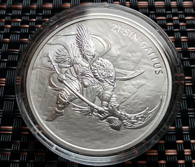 2017  Zi Sin Gallus 1oz Silver Bullion Medal In Capsule.