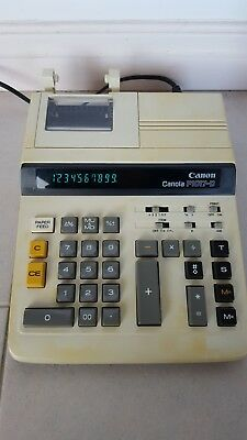 CANON CANOLA P107-D ELECTRONIC CALCULATOR - Paper included - VERY GOOD COND