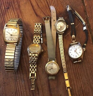 Vintage Ladies Watches X 5 Orven, Felicia, Timex, Tasman And Pulsar (2)