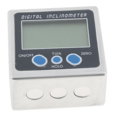 Electronic Digital Inclinometer Angle Meter Gauge Level Box Magnetic, Blue