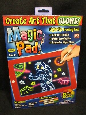 NEW! MAGIC PAD - Create Art That Glows! Light-Up Drawing Pad- AS SEEN ON TV!